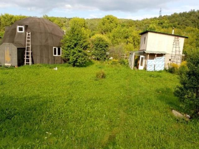 Обмен земельного участка с недостроенным купольным домом и баней. - 1