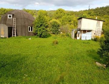 Обмен земельного участка с недостроенным купольным домом и баней. - Изображение 1