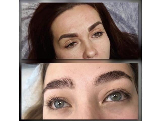 Наращивание ресниц/ламинирование/ботокс. Перманентный макияж (брови, веки, губы) - 3