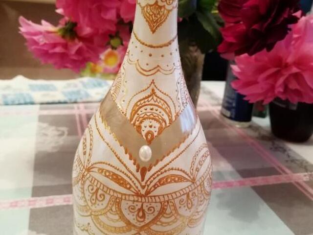 Декоративные бутылки ручной работы - 1