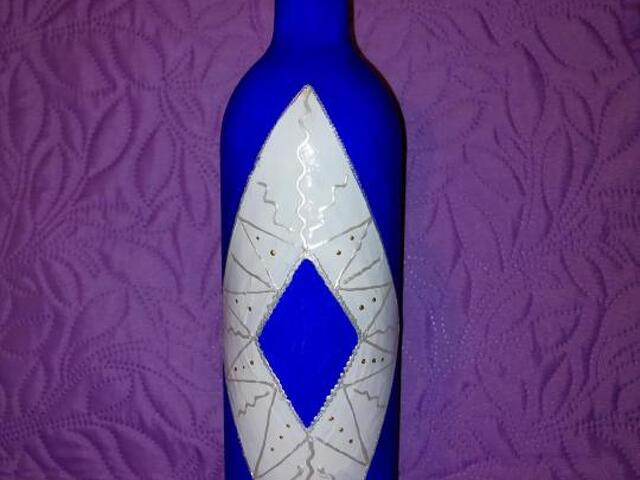 Декоративные бутылки ручной работы - 3