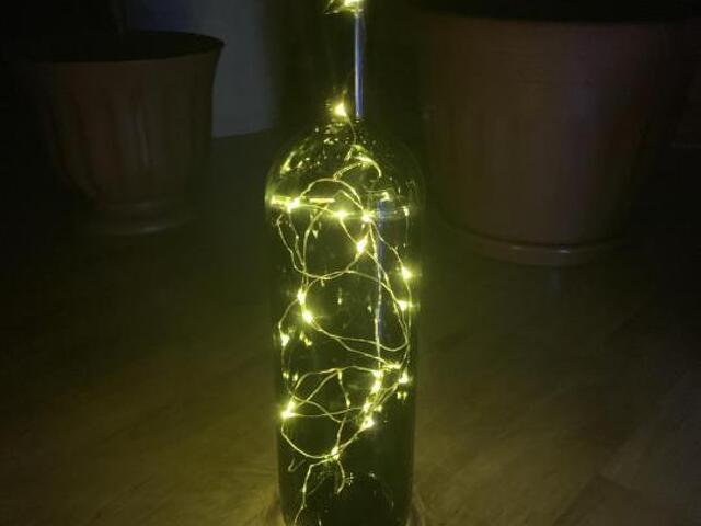 Бутылка светильник - 2