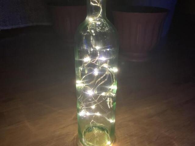 Бутылка светильник - 4