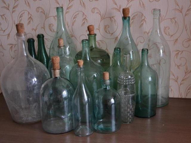 Старинные бутылки и бутыли для самогона - 3