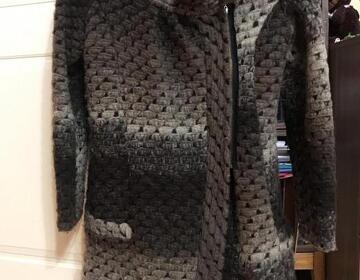 Вязаное пальто - Изображение 1