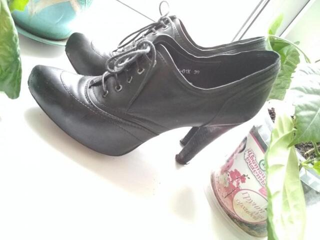 Ботинки (ботильоны) 39р натуральная кожа - 1