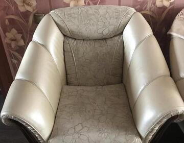 Диван с креслами кожаный - Изображение 2