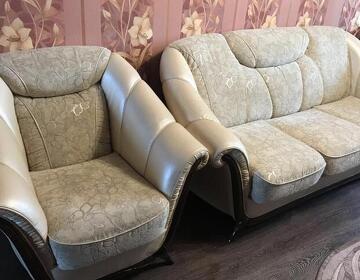 Диван с креслами кожаный - Изображение 3