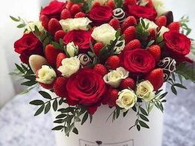 Подарки на 23 февраля, 8 марта, фруктовые букеты, клубничные - 3